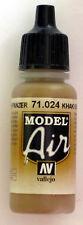 Vallejo Model Air Paint: 17ml  71024 Khaki Brown