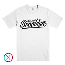 NEW YORK BROOKLYN PRINTED MENS TSHIRT NYC BRONX SLOGAN TEE SHIRT STREET LOGO TOP