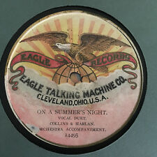 EAGLE TALKING MACHINE Co 78 rpm Record Very Early Disc Collins & Harlan Summer N