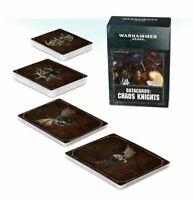 Datacards Chaos Knights Warhammer 40K NEW