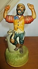 """Fiddler on the Roof Signed Chadwick Miller Music Box 1972 Sankyo Japan 8"""" Tall"""