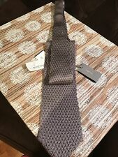 NWT $220 TOM FORD Silver Grey Knit 100% Silk Tie Made In Italy* ON SALE NOW