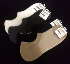 4 Pairs Bamboo No Show Footlet Socks Silicone Edge Sockettes 11 - 14 Assorted