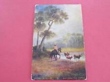 Watering the Cattle Australian Series Artist Drawn Postcard postally used