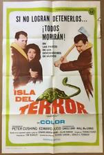 Peter Cushing Edward Judd Carole Gray Island of Terror movie poster 2258