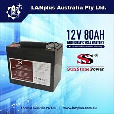 12V 80AH AGM Sealed Lead Acid DEEP CYCLE rechargeable Battery Caravan Camper ups