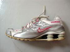Nike Womens White Gray Pink Shox running shoes Size 9 309206-013