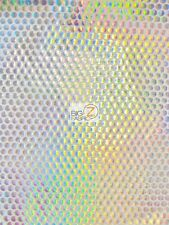 HOLOGRAPHIC DOTTED 70'S APPAREL SPANDEX FABRIC - White/Holo - BY YARD COSTUME
