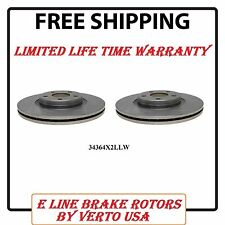 Brake Rotor Driver & Passenger Side Front Pair for Ford Focus Escape Volvo S40
