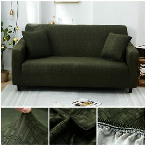 Couch Sofa Stretch Cover for Living Room Cross Striped Sofa Slipcovers 12 Colors
