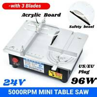Mini Table Saw Electric Bench Saw Woodworking Acrylic PCB Desktop Cutting Gift