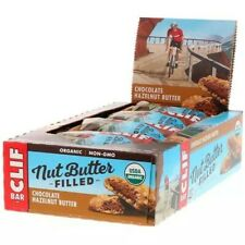 Clif Nut Butter Filled Organic Energy Bars Chocolate Hazlenut Flavour Box of 12