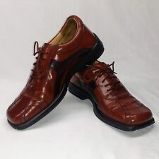 Genuine STANLEY BLACKER Italian Leather Mens Shoes Size 9.5M Brown Square Toe
