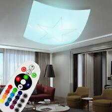 Plafonnier LED en verre RGB télécommande dimmable de la chambre à coucher neuf