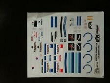 Decal 1/43 Benetton Renault F1 1996