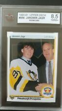 1990 Upper Deck #356 Jaromir Jagr Pittsburgh Penguins RC Rookie KSA 8.5