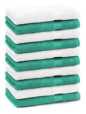 Betz 10 Toallas para invitados PREMIUM 100% algodón 30x50cm esmeralda y blanco