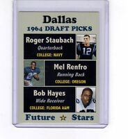 Roger Staubach, Mel Renfro, Bob Hayes '64 Dallas Cowboys Draft Picks rookies 🔥