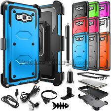 Samsung Galaxy J7 2015 J700 Shockproof Rugged Rubber Protective Hard Case Cover