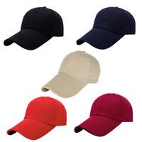 Plain Baseball Cap Snapback Men Ladies Cap Classic Adjustable Solid Hat