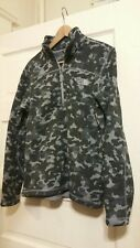 The North Face Men's Navy Camo Gray  1/2 Zip Pull Over Thermal Fleece Small S