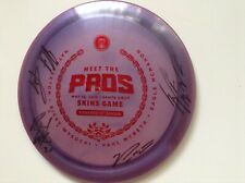 Flat top Champion Firebird 175g golf disc 2019 Meet the Pros Skins game. Signed.