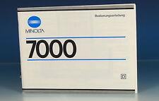 Minolta 7000 bedienungsanleitng German manual - (101308)