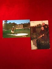 2 Vintage Postcards Fifi Dog On Porpoise Powered Surf Board Dog & Fishing Monks