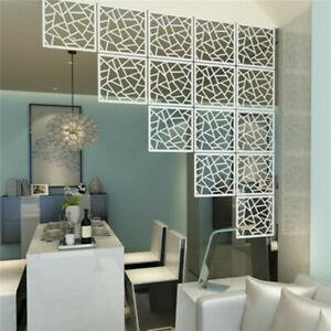 6pcs/12Pcs DIY Room Divider White Hanging Screen Partition Wall Panel Home Decor
