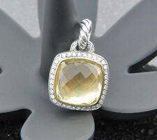DAVID YURMAN 14MM ALBION PENDANT WITH CHAMPAGNE CITRINE, DIAMONDS AND 18K GOLD