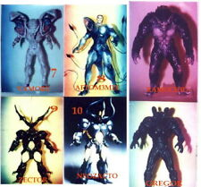"7""Lot of 6 Different Guyver Monstrous Japanese Anime Set 2 Vinyl model kits1/12"