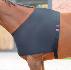 Shires Anti-Rub Stretch Shoulder Vest - Black - Pony, Cob, Full or Extra Full.