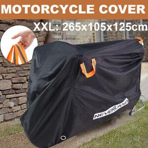 XXL Heavy Duty 210D Motorcycle Motorbike Cover Waterproof Outdoor Rain Protector