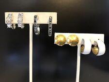 4 Pair Of Vintage Clip On Earrings