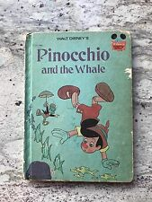 Vintage Walt Disneys Pinocchio and the Whale Hard Cover Book