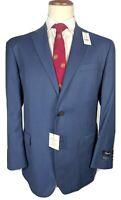 Bnwt BROOKS BROTHERS navy suit luxury italian wool 46R / EU56 W40 RRP£1,050