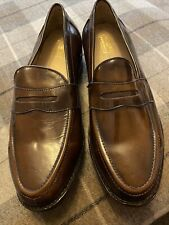(457) Samuel Windsor Brown Loafers Size 10 In Great Condition