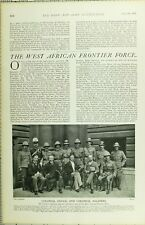 1902 PRINT WEST AFRICAN FRONTIER FORCE COLONIAL OFFICE & SOLDIERS NAMED