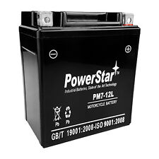 PowerStar® YTX7L-BS 12V 6AH Sealed AGM Battery for Motorcycle-2YR Warranty