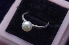 MIKIMOTO ring akoya pearl 7.2 mm silver