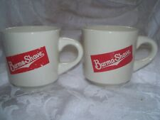 LOT OF TWO  Vintage Burma  SHAVE COFFEE CUPS  EXCELLENT CONDITION