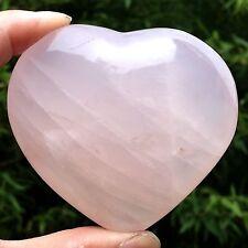 231g  Huge Natural Rose Quartz Crystal Heart Healing fx113