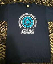 Marvel Iron Man stark industries arc reactor shirt SMALL NEW