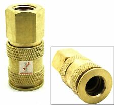 "UNIVERSAL BRASS FEMALE AIR QUICK COUPLER 1/4"" NPT"