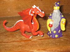 EARLY LEARNING CENTRE ELC CASTLE PALACE MERLIN WIZARD DRAGON 2 X PLAYFIGURE
