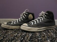 1940s Pair Converse All Star Chuck Taylor Black Canvas in Usa Shoes White.9-1/2