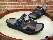 Alegria Colette Black Embossed Wild West Night Leather Sandals 38 8 8.5 NEW
