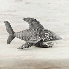 A1491 Shark Alebrije Oaxacan Wood Carving Painting Handcrafted Folk ArtMex
