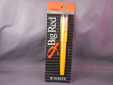 Parker Big Red Ball Pen-South American Model--Made in Brazil--Carded--YELLOW