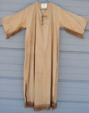 Vtg Camp Fire Girl Scout Ceremonial Dress Leather Fringe Gown Wo He Lo Uniform